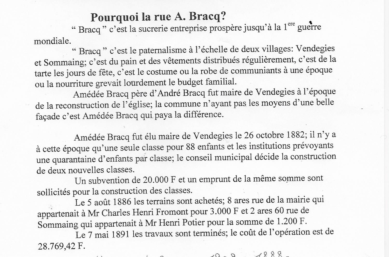 Rue a bracq